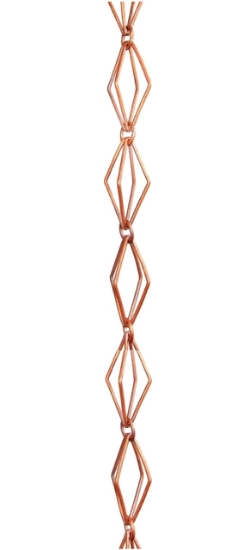Picture of U-nitt 8-1/2 feet Pure Copper Rain Chain: taper link 8.5 ft length #6002