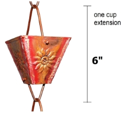 Picture of U-nitt Rain Chain Single Cup Extension #5515 (embossed: one cup with upper and lower links