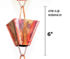 Picture of U-nitt Rain Chain Single Cup Extension #3121URL (plain cup): one cup with upper and lower links