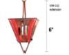 Picture of U-nitt Rain Chain Single Cup Extension #3121AC (slotted cup): one cup with upper and lower links