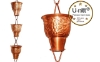Picture of U-nitt #5502 Embossed Grape Vine Large Cup Rain Chain