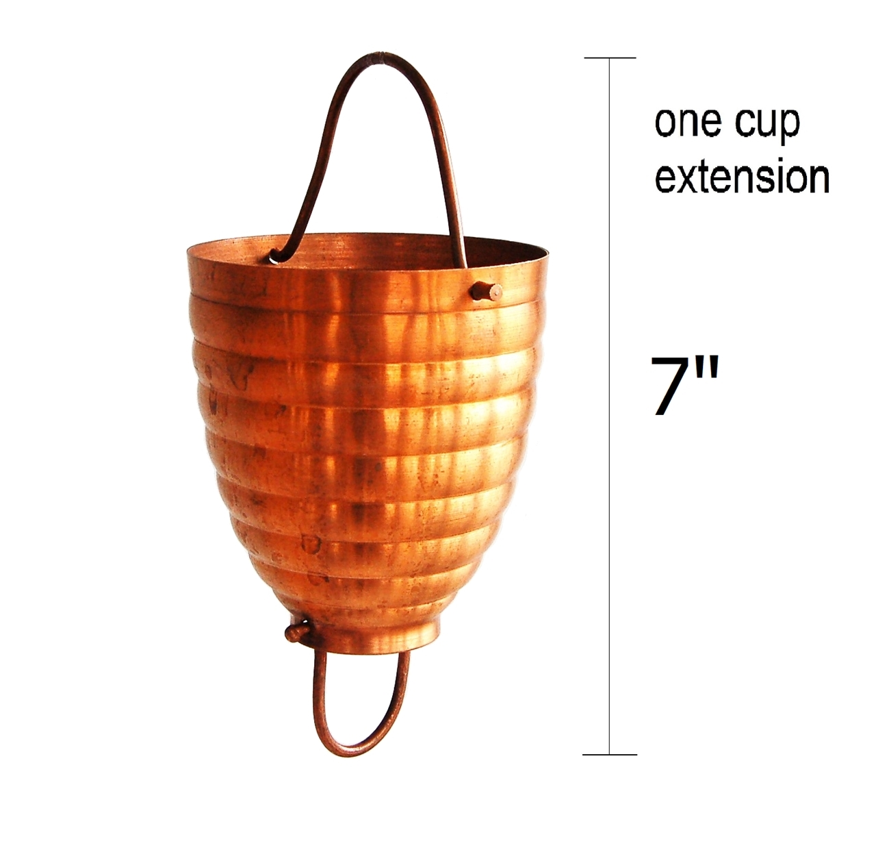 Picture of #2980 Ribbed Cup Rain Chain