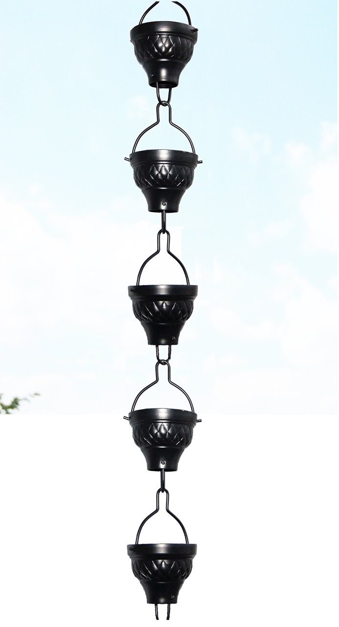 Picture of U-nitt #786/1062A Aluminum Diamond Embossed Cup Rain Chain