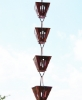 Picture of U-nitt  pure copper Slotted Square Cup Rain Chain #3121AC