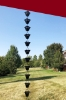 Picture of U-nitt  Rain Chain for Gutter: Square Jali Cup Aluminum Black; Length: 8.5 ft (Whole Chain) 3121BLK