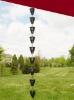 Picture of U-nitt Rain Chain Aluminum: flower embossed 8 - 1/2 ft #5502A