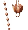 Picture of U-nitt pure Copper Rain Chain: lily cup 8 - 1/2 ft #5225