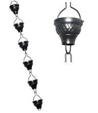 Picture of U-nitt Rain Chain Aluminum diamond embossed 8 - 1/2 ft #786/1062A